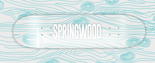 Springwood Woodgrain Mint Skateboard Deck 8.1
