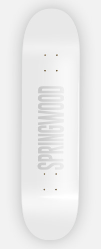 Springwood Blow White Skateboard Deck 8.0
