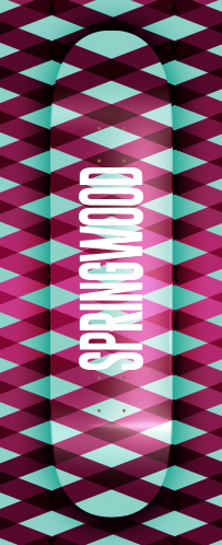 Springwood Crossings Skateboard Deck 8.0