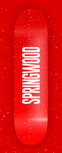 Springwood Speckled Red Skateboard Deck 8.0